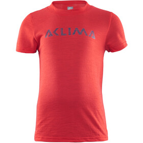 Aclima Junior LightWool T-Shirt High Risk Red